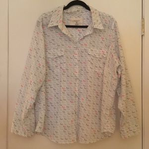 Sonoma Cotton Bicycle Print Shirt